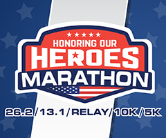 Honoring our Heroes Marathon logo on RaceRaves