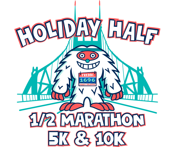 Foot Traffic Holiday Half logo on RaceRaves