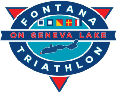 Fontana Triathlon on Geneva Lake logo on RaceRaves