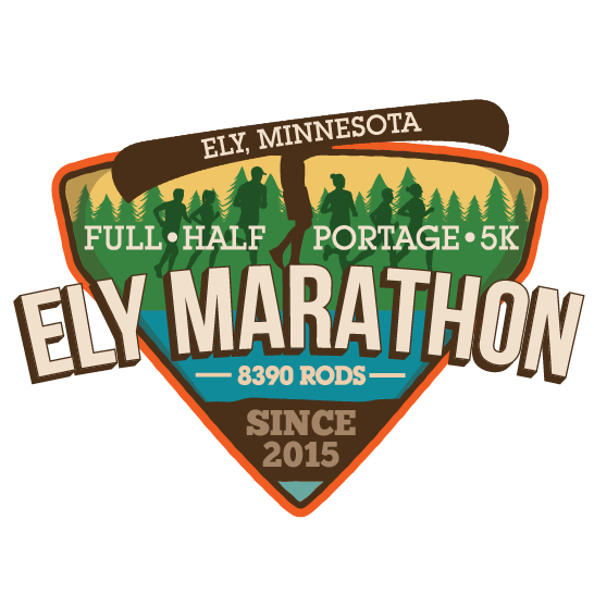 Ely Marathon and Boundary Waters Half logo on RaceRaves