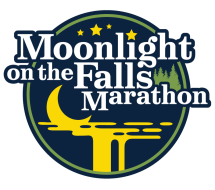 Moonlight on the Falls Marathon logo on RaceRaves