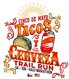 Tacos y Cerveza Trail Run logo on RaceRaves