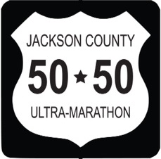 Jackson County 50-50 Ultramarathon Trail Run logo on RaceRaves