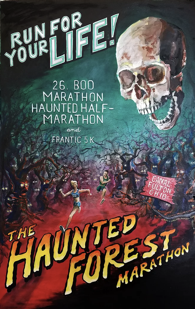 Haunted Forest Marathon logo on RaceRaves