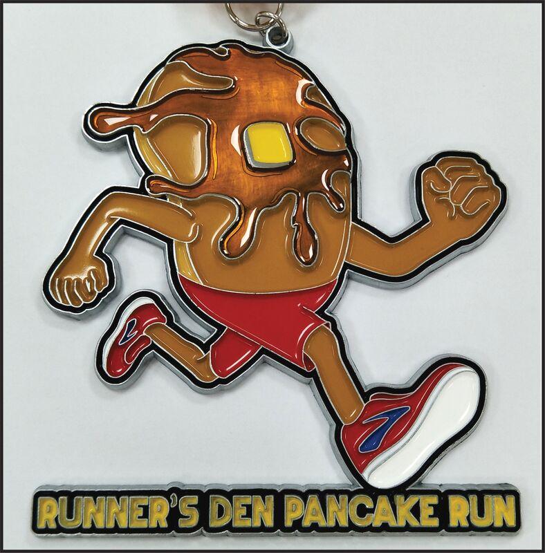 Runner's Den Pancake Run logo on RaceRaves
