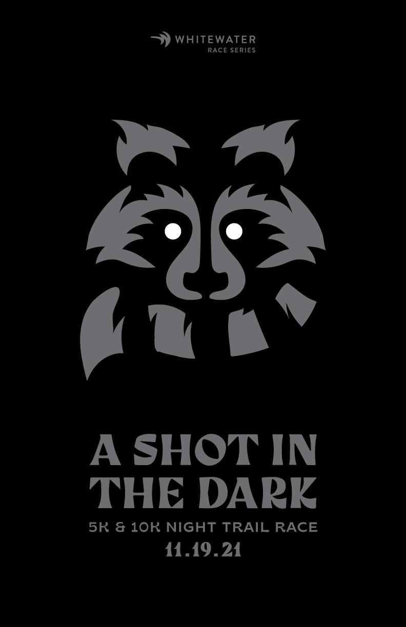 A Shot in the Dark Night Trail Race logo on RaceRaves